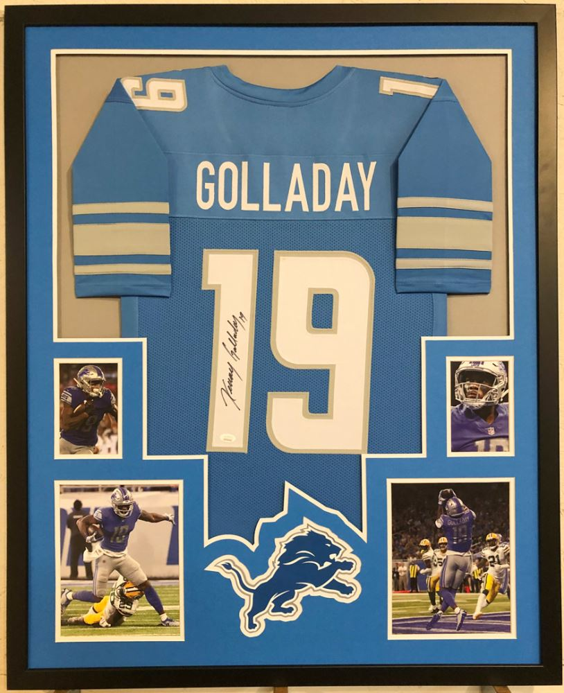 newest c9789 61c38 Kenny Golladay Signed Detroit Lions 34x42 Custom Framed ...