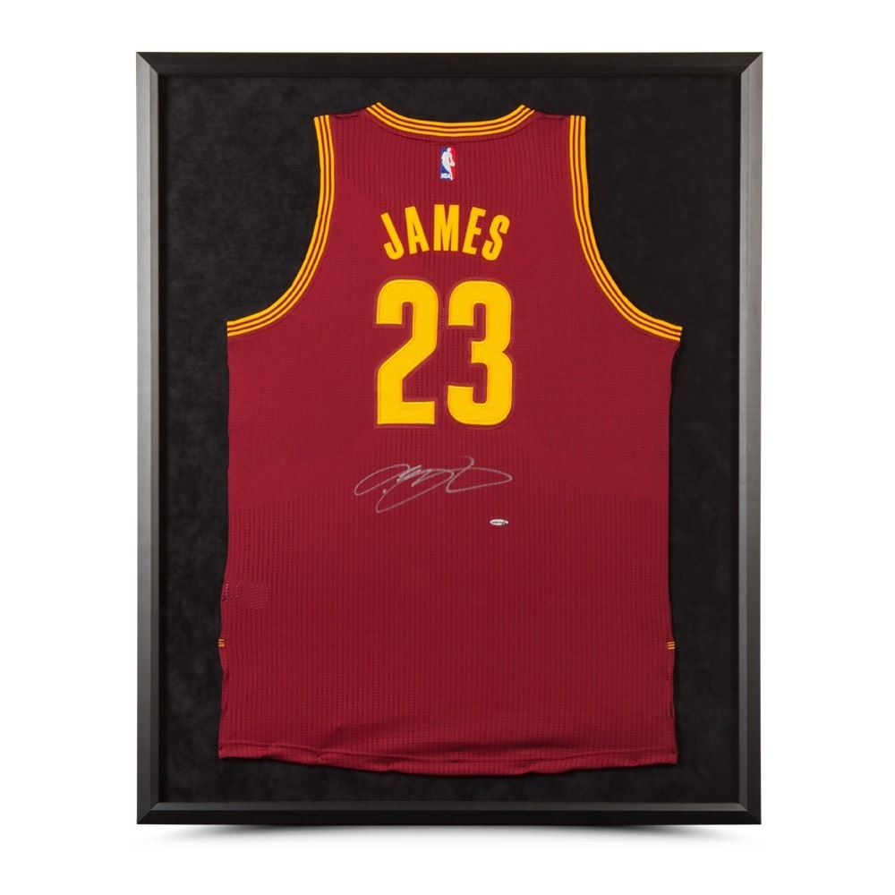 outlet store fa28b a00c5 LeBron James Signed Cleveland Cavaliers 32x38 Custom ...
