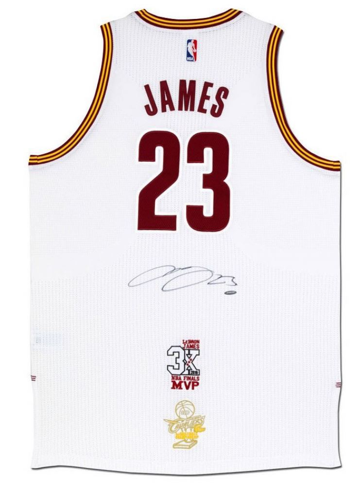 new product d4230 4d1dd LeBron James Signed Cleveland Cavaliers