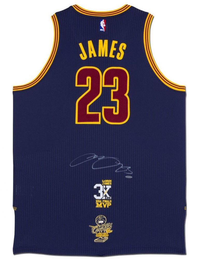 new product c654b 72e63 LeBron James Signed Cleveland Cavaliers