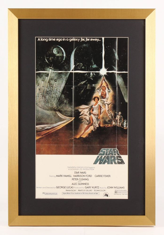 Star Wars Episode Iv A New Hope 17x25 Custom Framed Movie Poster Display