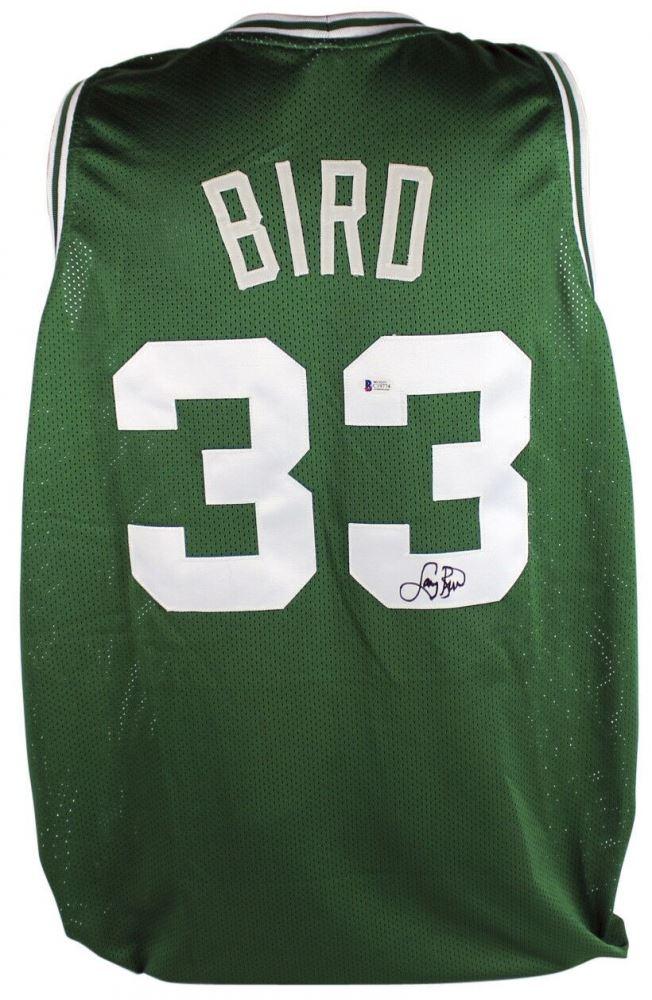 detailed look c1f6c 3fa62 Larry Bird Signed Boston Celtics Jersey (Beckett COA)