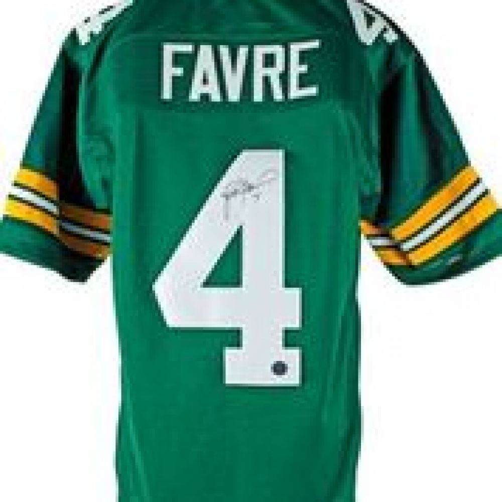 best website 9b5ff c5568 Brett Favre Signed Green Bay Packers Jersey (Favre COA)