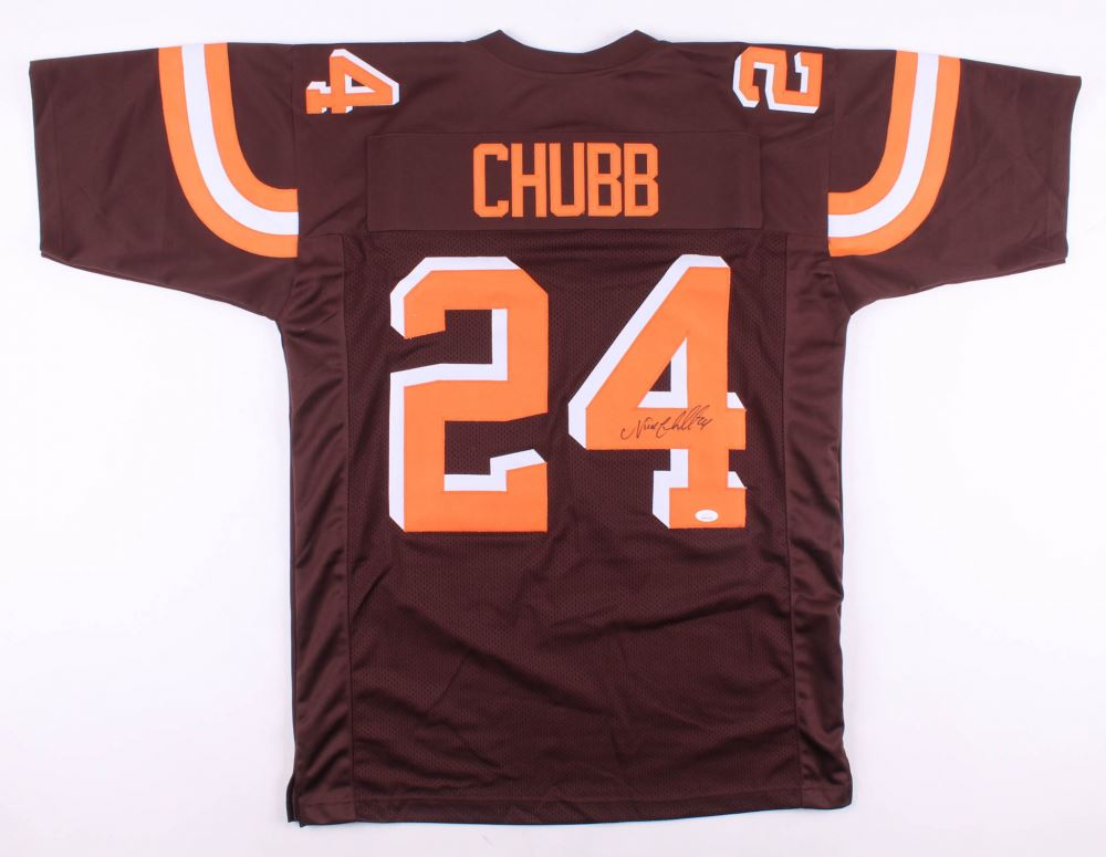 new arrival f9e13 6f45a Nick Chubb Signed Cleveland Browns Jersey (JSA COA)
