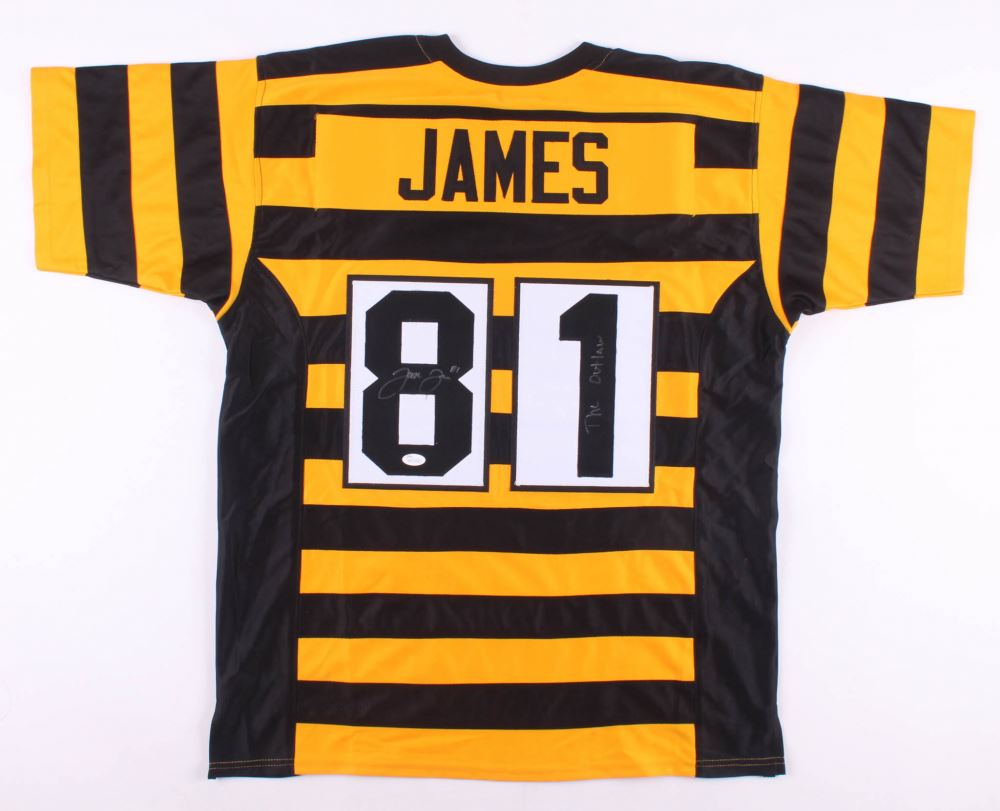 best sneakers 6f494 5bffd Jesse James Signed Pittsburgh Steelers Throwback Jersey ...