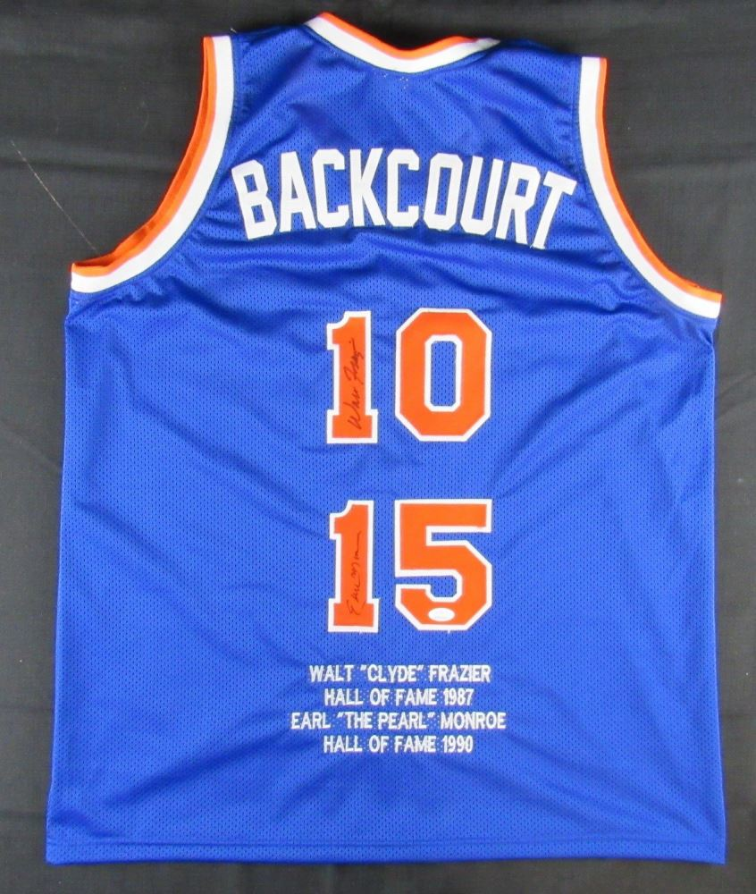 best cheap 8dadf 3d780 Walt Frazier Earl Monroe Signed New York Knicks