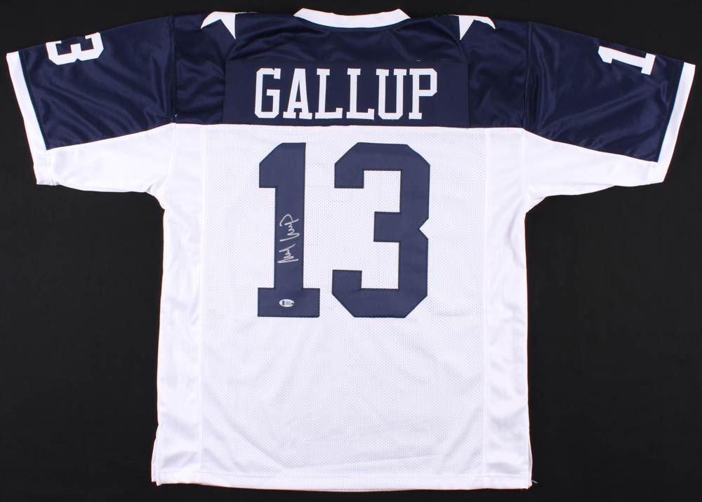 separation shoes 5fa90 92b04 Michael Gallup Signed Dallas Cowboys Jersey (Beckett COA)