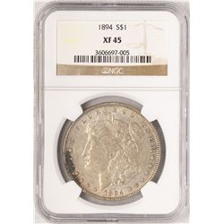 1894 $1 Morgan Silver Dollar Coin NGC XF45