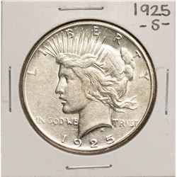 1925-S $1 Peace Silver Dollar Coin