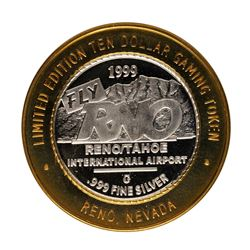 .999 Fine Silver Reno Tahoe International Airport $10 Limited Edition Gaming Tok