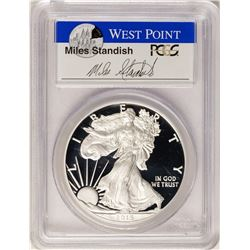 2015-W $1 Proof American Silver Eagle Coin PCGS PR70DCAM W/Miles Standish Signat