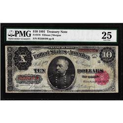 1891 $10 Treasury Note Fr.370 PMG Very Fine 25