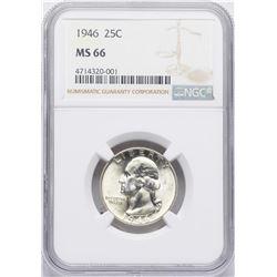 1946 Washington Quarter Coin NGC MS66