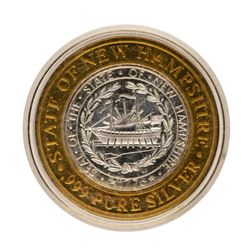 .999 Fine Silver Foxwoods Casino New Hampshire $10 Limited Edition Gaming Token