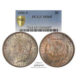 1896-S $1 Morgan Silver Dollar Coin PCGS MS65