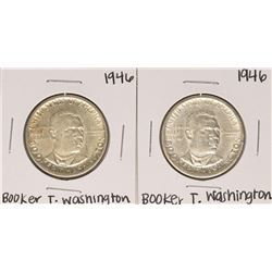 Lot of (2) 1946 Booker T. Washington Commemorative Half Dollar Coins