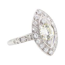 Platinum 1.57 ctw Diamond Ring