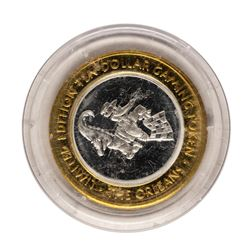.999 Fine Silver The Orleans Las Vegas, Nevada $10 Limited Edition Gaming Token