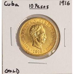 1916 Cuba 10 Pesos Gold Coin