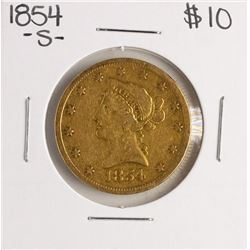 1854-S $10 Liberty Head Eagle Gold Coin