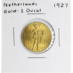 1927 Netherlands Ducat Gold Coin