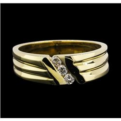 14KT Yellow Gold 0.15 ctw Diamond Ring