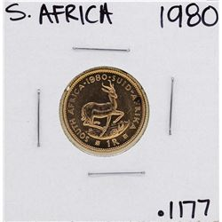 1980 South Africa 1 Rand Gold Coin