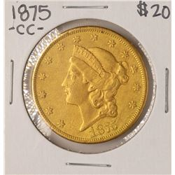 1875-CC $20 Liberty Head Double Eagle Gold Coin