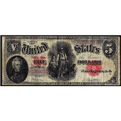 1907 $ Woodchopper Legal Tender Note