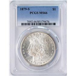 1879-S $1 Morgan Silver Dollar Coin PCGS MS66 AMAZING TONING
