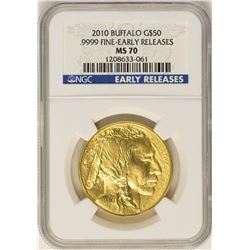2010 $50 American Buffalo Gold Coin NGC MS70 Early Releases