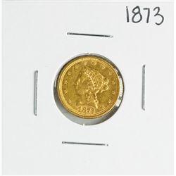 1873 $2 1/2 Liberty Head Quarter Eagle Gold Coin