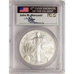 2006-W $1 American Silver Eagle Coin PCGS MS70 Mercanti Signature