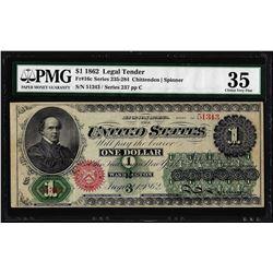 1862 $1 Legal Tender Note Fr.16c PMG Choice Very Fine 35