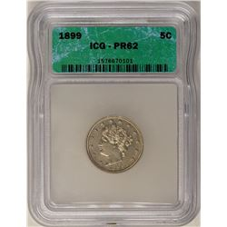 1899 Proof Liberty V Nickel Coin ICG PR62