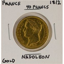 1812 France 40 Francs Napoleon Gold Coin
