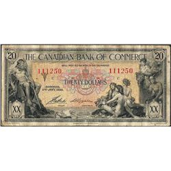 1935 $20 Canadian Bank of Commerce Note