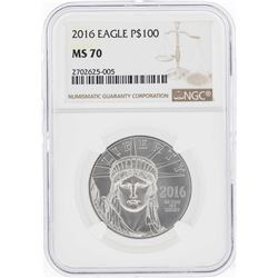 2016 $100 American Platinum Eagle Coin NGC MS70