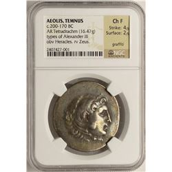 C.200-170 BC Ancient Greek Empire Alexander III Silver Coin NGC CH F