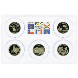 Set of 2004-S (5) Coin Proof State Quarter Coins PCGS PR69DCAM