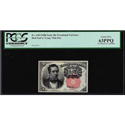 1874 Fifth Issue Ten Cent Fractional Currency Note PCGS Choice New 63PPQ