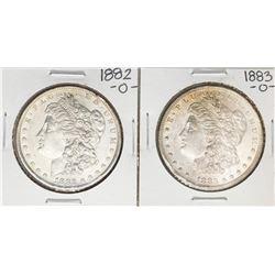Lot of 1882-O & 1883-O $1 Morgan Silver Dollar Coins