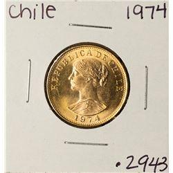 1974 Chile 50 Pesos Condores Reublica De Chile Gold Coin