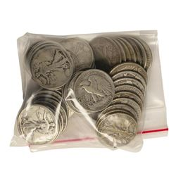 Bag of (50) Silver Walking Liberty Half Dollar Coins - $25 Face Value