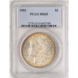1902 $1 Morgan Silver Dollar Coin PCGS MS65