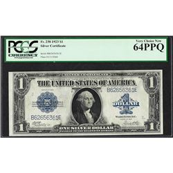1923 $1 Silver Certificate Note Fr.238 PCGS Very Choice New 64PPQ