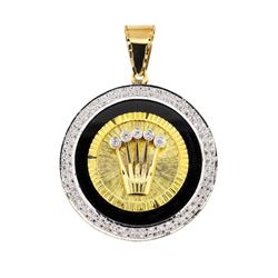 14KT Yellow Gold 1.50 ctw Diamond Pendant
