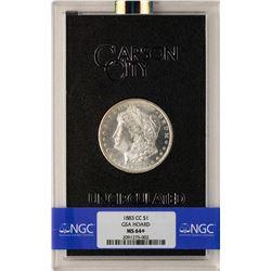 1883-CC $1 Morgan Silver Dollar Coin GSA Hoard MS64+