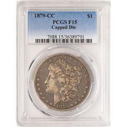 1879-CC Capped Die $1 Morgan Silver Dollar Coin PCGS F15