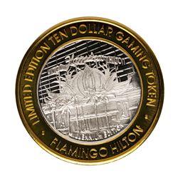 .999 Fine Silver Flamingo Casino Las Vegas, NV $10 Limited Edition Gaming Token